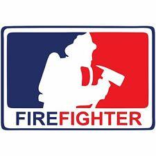Firefighter MLB-Style (Design 1) - 4x2.75 inch Sticker