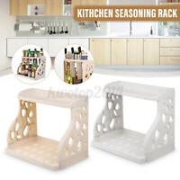 Kitchen Storage Organizer Rack PP Adjustable 2-Tier Shelf Holder