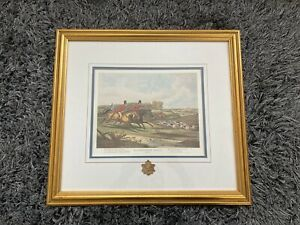 Antique Bachelor's Hall Plate 4 Hunting Scene