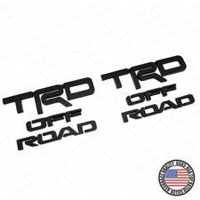 2x Left Right Toyota 4Runner TRD Off Road Sport Badge Side Quarter Emblem Black