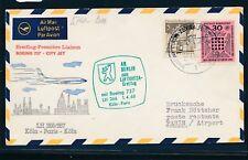 14904) LH FF Köln - Paris 1.4.68, SoU ab Berlin, MiF Ev.Kirchentag