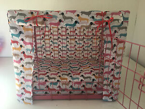 MADE TO MEASURE DASCHUND DOG PUPPY CRATE / CAGE COVER