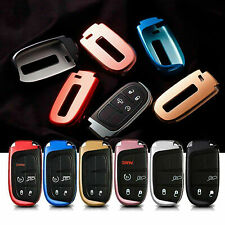 Soft TPU Remote Smart Key Fob Shell Cover Case for Jeep Chrysler Dodge 2011-up