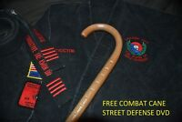 CHOICE OAK SELF DEFENSE- MADE IN U.S.A GRAND MASTERS SAW TOOTH COMBAT CANE
