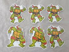 6x Vintage 1990 Mirage Studios Mutant Ninja Hero Turtles Sticker / Aufkleber