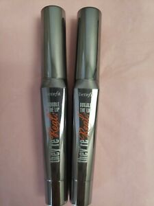 2 FULL SIZE - BENEFIT THEY'RE REAL DOUBLE THE LIP, NUDE SCANDAL, .05 OZ ea NWOB