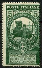 Italia Regno 1911 Sass. 93 Nuovo * 40%
