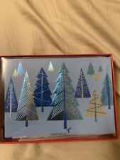 Cold Christmas Tree Papyrus Box Cards 12 Count