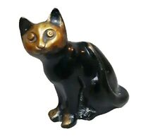 Cat Design Vintage Antique Style Handmade Brass Figurine Sculpture Figure Statue