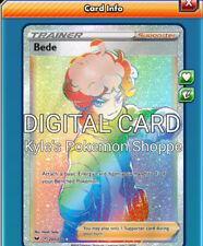 Bede RR RAINBOW RARE Pokemon TCG Online PTCGO 207/202 DIGITAL CARD FAST