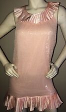 BETSEY JOHNSON Pink Sequin Trapeze Dress Size 0 Beautiful!!