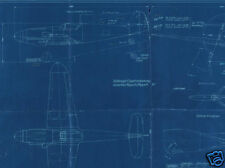 Bf Me 109 Messerschmitt Original Blueprint Plans archive period Drawings 1940's