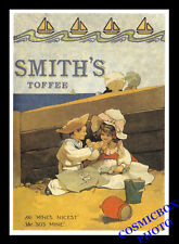 Carte postale publicitaire confiserie SMITH'S TOFFEE réclame pub bonbon chocolat