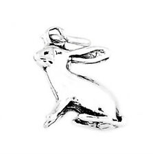 STERLING SILVER LONG EAR RABBIT BUNNY CHARM PENDANT