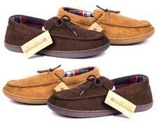 Zapatillas de andar sin marca color principal marrón por casa de hombre
