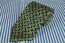 Brooks Brothers Uomo Verde Rosso Geometrico Seta Cravatta 60 x 3.75