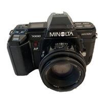 MINOLTA Maxxum 7000 AF SLR 35mm Film Camera w/ 50mm 1.7 Lens FOR PARTS OR REPAIR