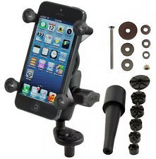 RAM Motorcycle Fork Stem Mount w/ Short Arm & X-Grip Holder for Cell Phone, GPS