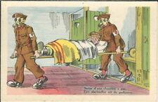 BB-048 WWI French Sortie chambre a gaz, Military Theme, 1915-18 Postcard