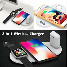 KESHOW QI Wireless 3 in 1 Charger Dock Pad for iPhone X 8 AirPods Apple Watch