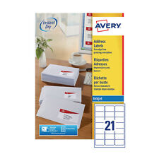 AVERY J8160-100 INKJET PRINTER LABELS 21 PER A4 SHEET