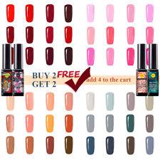 Gellack Nagellack 8ml Nagellacke UV Gel Lacke Rot Rosa Grau Nackt Base Top Nails
