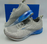 Brooks Men's Levitate 3 Running Shoe, White/Grey/Blue, 8/9/11 US D(M)