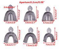 6X Abdrucklöffel Perforiert Edelstahl Autoklavierbar Dental Impression Trays Neu