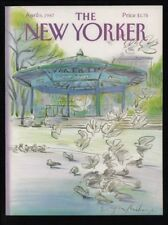 New Yorker magazine COVER ONLY  April 6 1987 Mihaesco art-Union Square pigeons