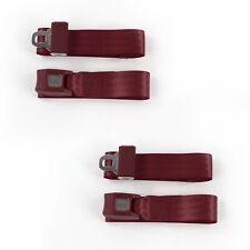 Ford Truck 1948 - 1952 Standard 2pt Burgandy Lap Bucket Seat Belt Kit - 2 Belts(Fits: Whippet)