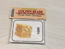 Golden Beads - Cards for Learning Center - Three Part Card set - Montessori