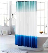 Threshold Dip Dye Fabric Shower Curtain Blue White Aqua Surfer Boho Hippie Tie
