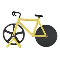 Bicycle Pizza Cutter Wheel Stainless Steel Plastic Bike Roller Pizza Choppe U4O6