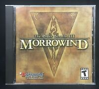 The Elder Scrolls III: Morrowind (PC, 2002) Computer Video Game Role Play TESTED