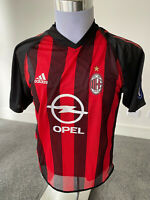 Adidas AC Milan Home Maldini #3 New Vintage Champions League Jersey Large Retro