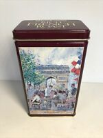 Paris Scene Maxwell House Coffee Metal Tin Container French Roast EUC