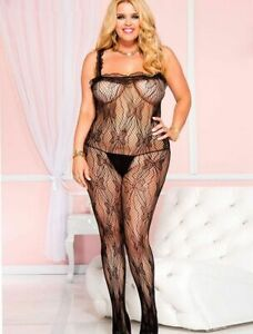 Plus Size 18-24 Fishnet Butterfly Body Stocking - BST19BK