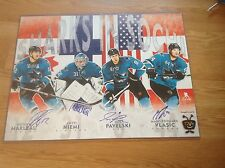 SJ Sharks In Sochi Signed Poster Marleau Niemi Pavelski Vlasic Autographed a