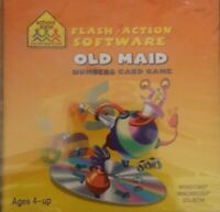 Flash Action Software Old Maid Numbers Card Game CD-Rom