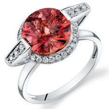 14 Kt White Gold 4.5 cts Padparadscha Sapphire and Diamond Ring R61776