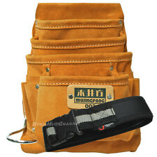 A work belt & Mujingfang large leather carpenter tool pouch