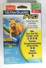 Hartz UltraGuard Pro Flea & Tick for Cats 5lbs. 3 Treatments