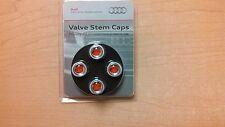 Tire Valve Stem Cap-Valve Stem Caps - Red Audi Sport Logo AUDI OEM ZAW355000AS