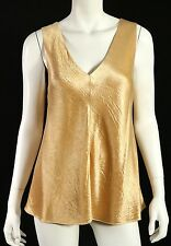 THE ROW $750 NWT Butter Crushed Satin MAYAN V-Neck Sleeveless Top L