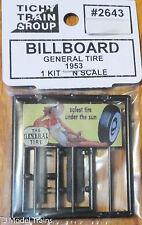 "Tichy Train Group #2643 (N Scale) Billboard ""Safest tire under the Sun"" General"
