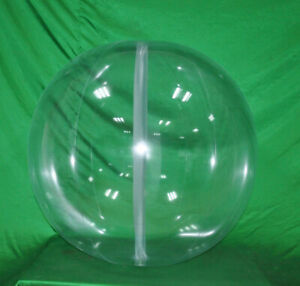 """48"""" Crystal Clear GLOW STICK or SPRINKLER Beach Ball w/ CLEAR FROST Tube SPH"""