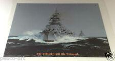 Retro Vintage Bismarck Battleship Steel Decorative Wall Plaque Sign Ship Sea
