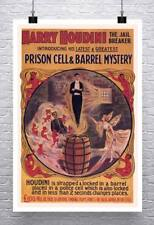 Harry Houdini Jail Breaker Vintage Poster Rolled Canvas Giclee Print 24x34 in.