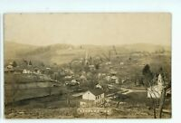 RPPC Aerial View of HARFORD PA Susquehanna County Real Photo Postcard