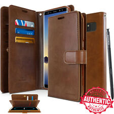 For Galaxy S10+ S9, Note20 10 Dual Shockproof Flip Card Slot Wallet Leather Case